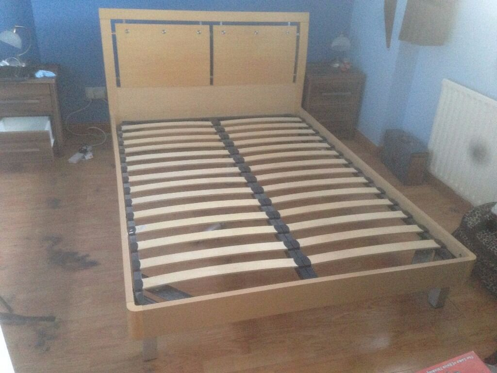 Sturdy Double Bed - Wooden