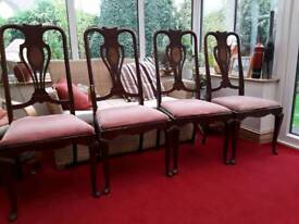 Set of four Art Nouveau dining chairs