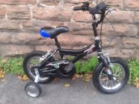 GIANT ANIMATOR Kids Childrens Light weight Bike with Stabilizers 12 inch MINT Condition