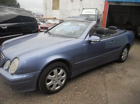 (AUTOMATIC)MERCEDES BENZ CLK CONVERTIBLE ,2.3.CC,..p.x.to clear,