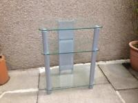 Glass tv stand / unit.
