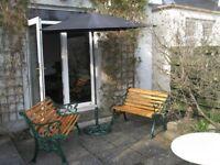 Garden Benches, Parasol and Parasol Base