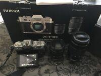 Fuji X-T10 Camera with XC16-50mm + XC50-230mm Lens