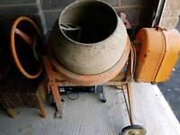 240v cement mixer and wheelbarrow