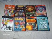 19 GAMES DVDs AS NEW