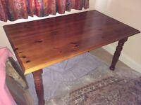 Farmhouse style pine dinning table