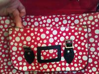 Red and white Polka Dot satchel