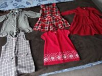 A bundle of baby girl's clothes
