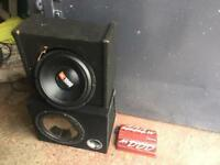 Car sub subwoofer x2 and Sony amplifier 1000w