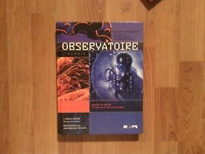 Observatoire: manuel de secondaire 3
