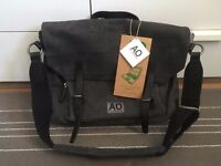 "Ally Capellino - grey 15"" laptop satchel bag"
