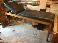 Antique examination couch/massage bed