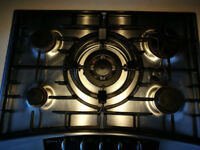 NEFF T2766NO five burner gas hob in stainless steel.