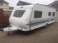 SOLD. Hobby 560 UF De-Lux 4 berth Fixed Bed 2005 Caravan