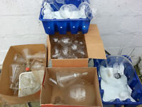 Huge joblot of vintage lab glassware including flasks beakers pyrex etc