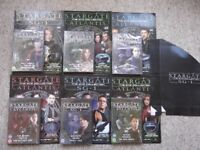 6 new Stargate Atlantis and Stargate SG-1 DVDs with magazines - official DVD + Magazine Collection