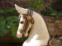 Stylish Carved Wooden Rocking Horse, possibly from India, £120
