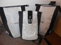 Ortlieb panniers, ortlieb backpack, bicycle bag for plane, small handlebar bag - cycle touring gear
