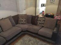 Brown large corner settee