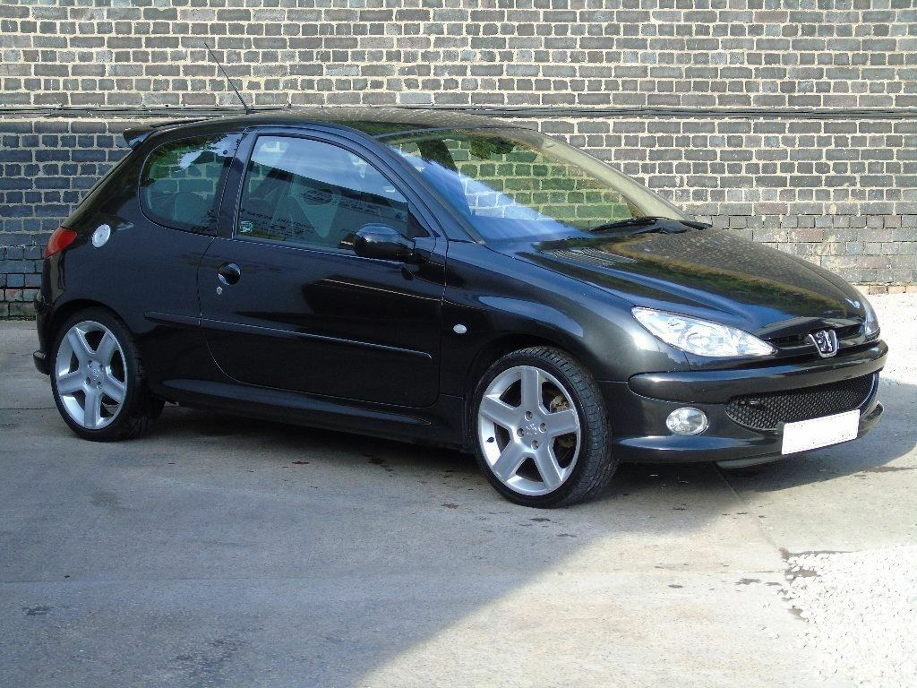 immaculate 04 peugeot 206 gti 180 black genuine low mileage 55k mot 1 year fsh. Black Bedroom Furniture Sets. Home Design Ideas
