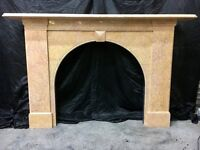 Antique Marble Arch Fireplace