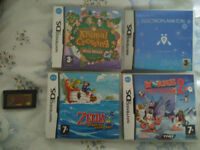 4 Nintendo DS games + 1 Gameboy Advance game