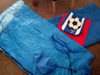 2 x childrens sleeping bags(Football one sold)