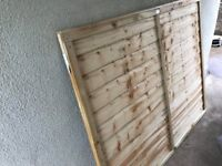 6ft X 5ft Pressure treated fence panel