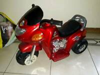 Electric toddler police motor bike