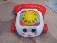 Pull along phone