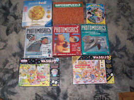 Job Lot Challenging Jigsaws All with 1 Piece Missing Photomosaics Impossipuzzle Wasgij Puzzleball