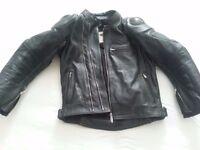 Teknic Leather Biker Jacket Size 40
