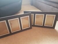 Brown leather look photo frames