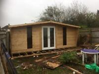 20x10 log cabin with pvc double doors