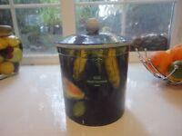 Large Ceramic Biscuit Barrel/ StorageCannister