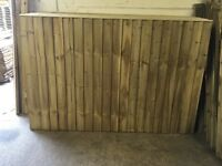 🌲Tanalised Close Board Wooden Garden Fence Panels ~ Straight Top