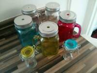 Glass Drinking Jars and small Jars