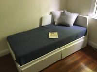 Ikea FLEKKE Day-bed w 2 drawers (without mattresses)