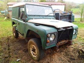 1987 Land Rover Defender 90 & parts job lot