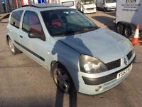 2003 CLIO 1.2 3 DOORS SILVER LOW MILES