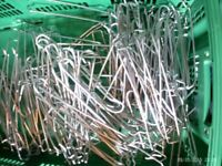 Approx 100 peg board hooks in various lengths.