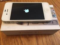 IPhone 4s white 8GB ee network locked genuine hand set boxed