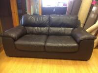 Plush two seater leather sofa