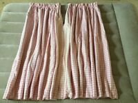 Laura Ashley Pink Gingham Check Curtains