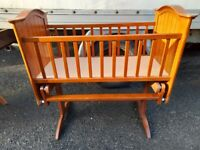 Babylo solid wood Rocking baby crib cot