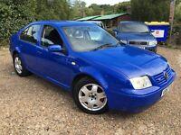 Volkswagen BORA V5 2324cc Petrol 5 speed manual 4 door saloon V Reg 01/09/1999 Blue