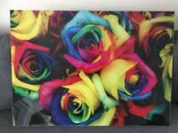 Floral splash back panel