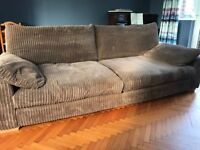 Large comfy sofa & footstool - price reduced