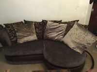 Beautiful brown corner couch