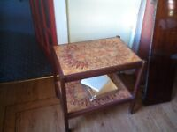 Dining Hostess Trolley With Tiled Surface Pattern